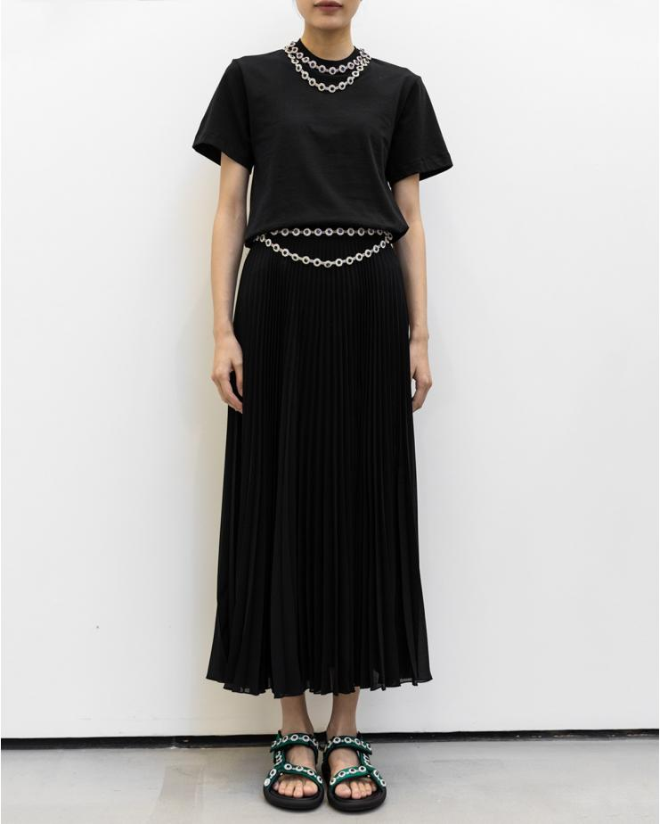 Crystal Pleated Skirt