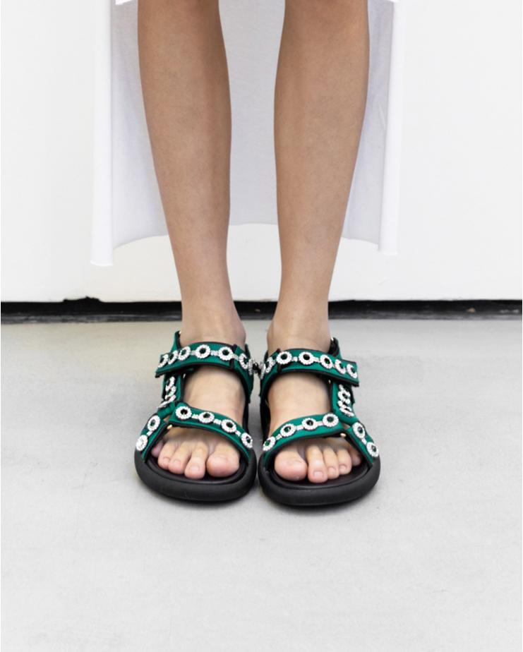 Crystal Satin Sandals