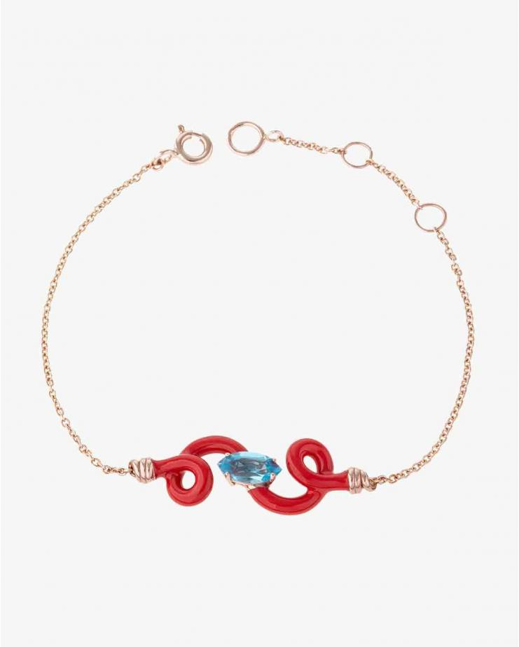 Baby Vine Chain Bracelet Red