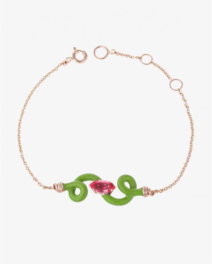 Baby Vine Chain Bracelet Green