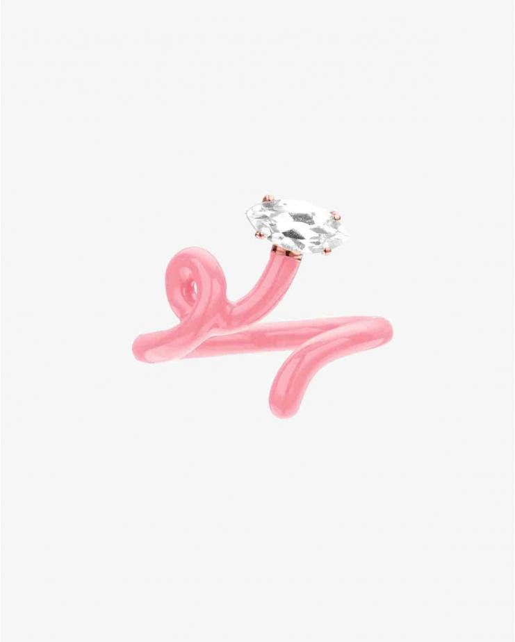 Baby Vine Tendril Ring Pink