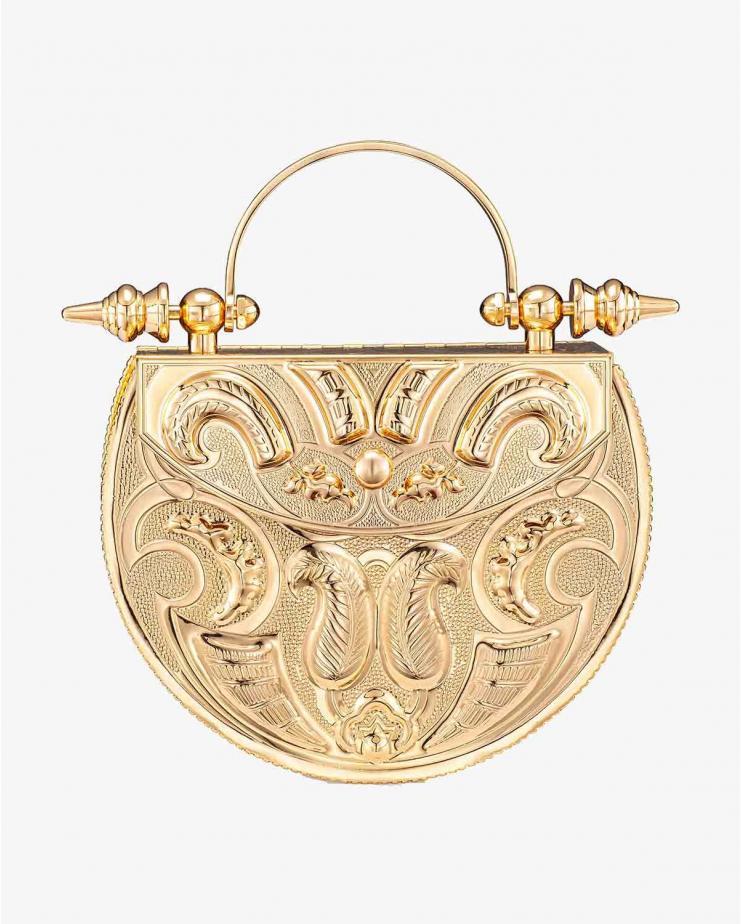 Oval Palmette Minaudière Gold