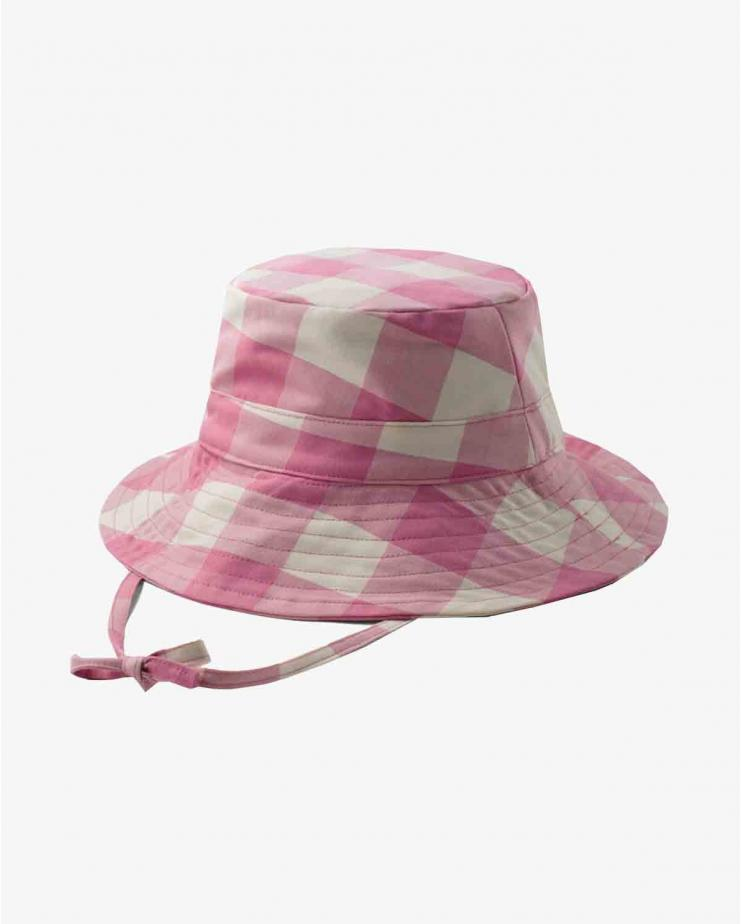 Reversible Picnic Hat Pink/Yellow