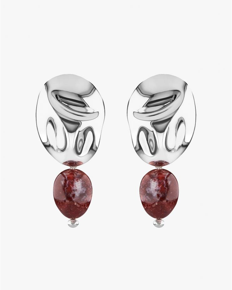 Oriente Earrings in Jasper