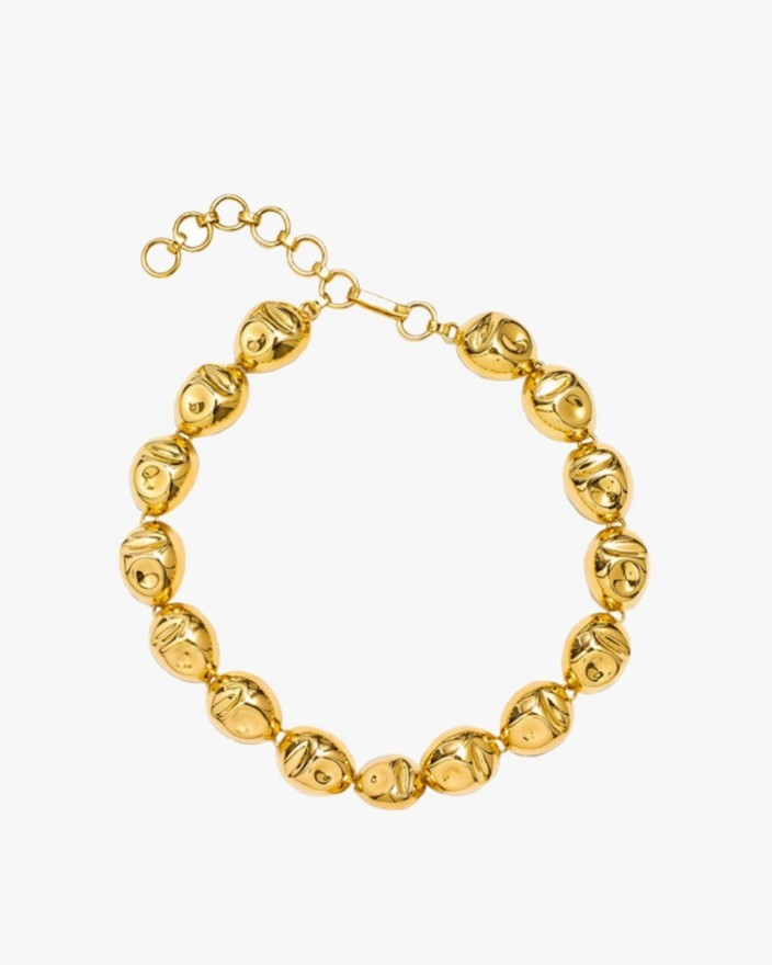 Puerto Single Necklace in Gold