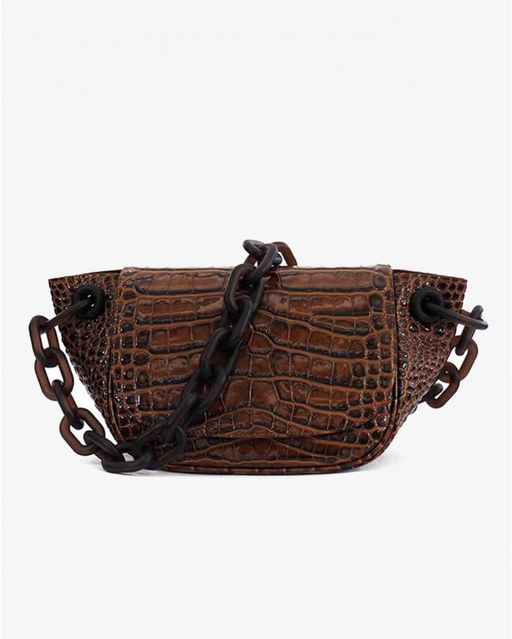 Bend Bag in Cocoa Croc