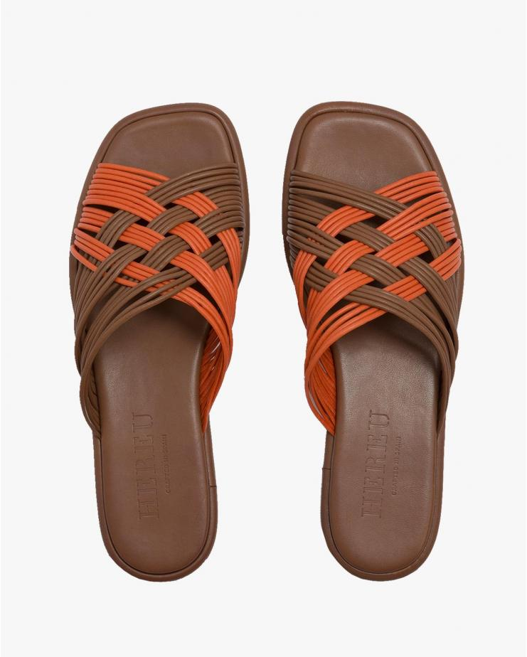 Creuada Sandals in Orange