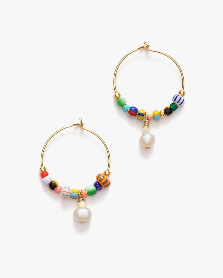 Pearly Alaia Hoops
