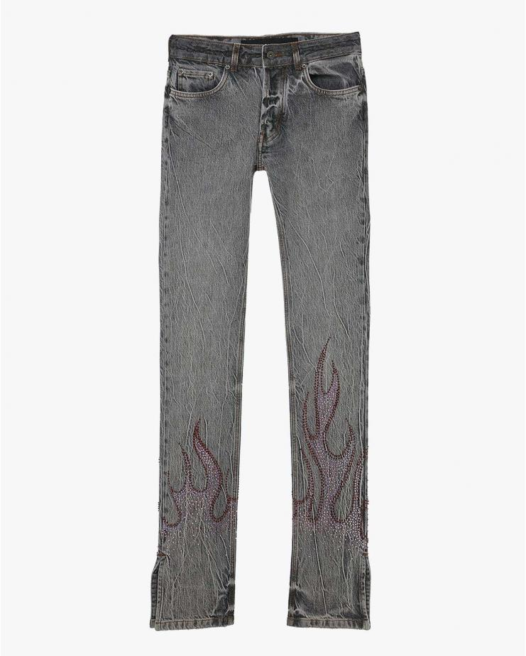 Kiss Flames Crystal Jeans
