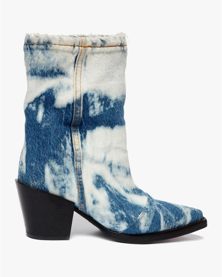 Josh Denim Cowboy Boots