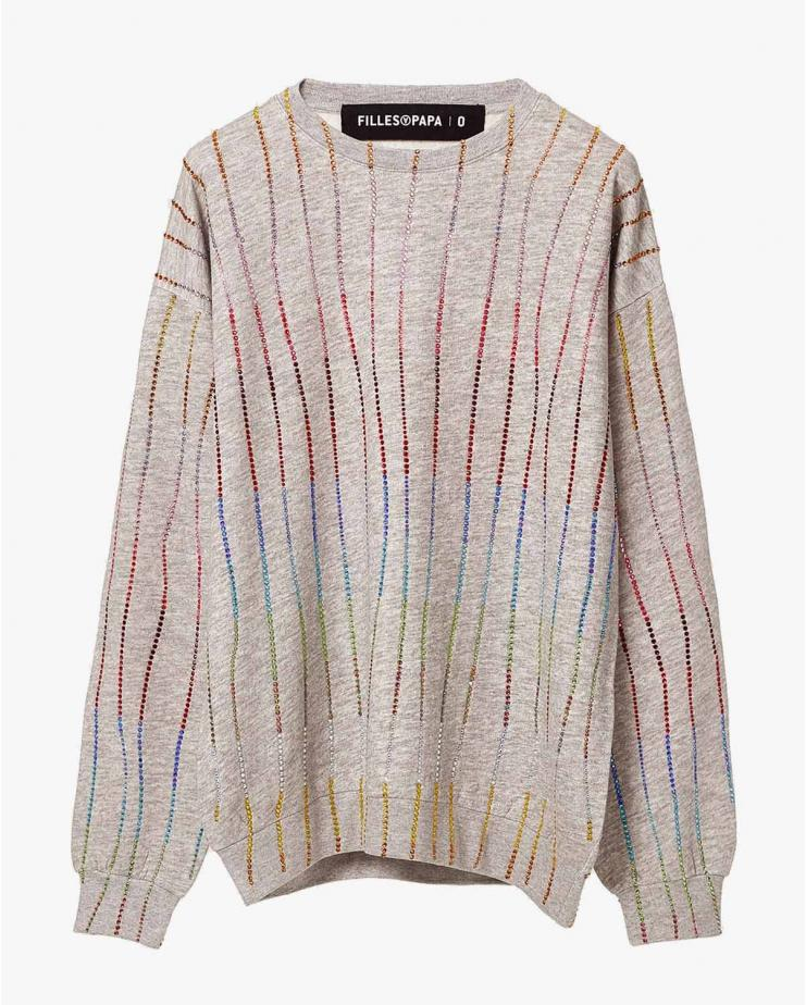 Rainbow Crystal Sweatshirt