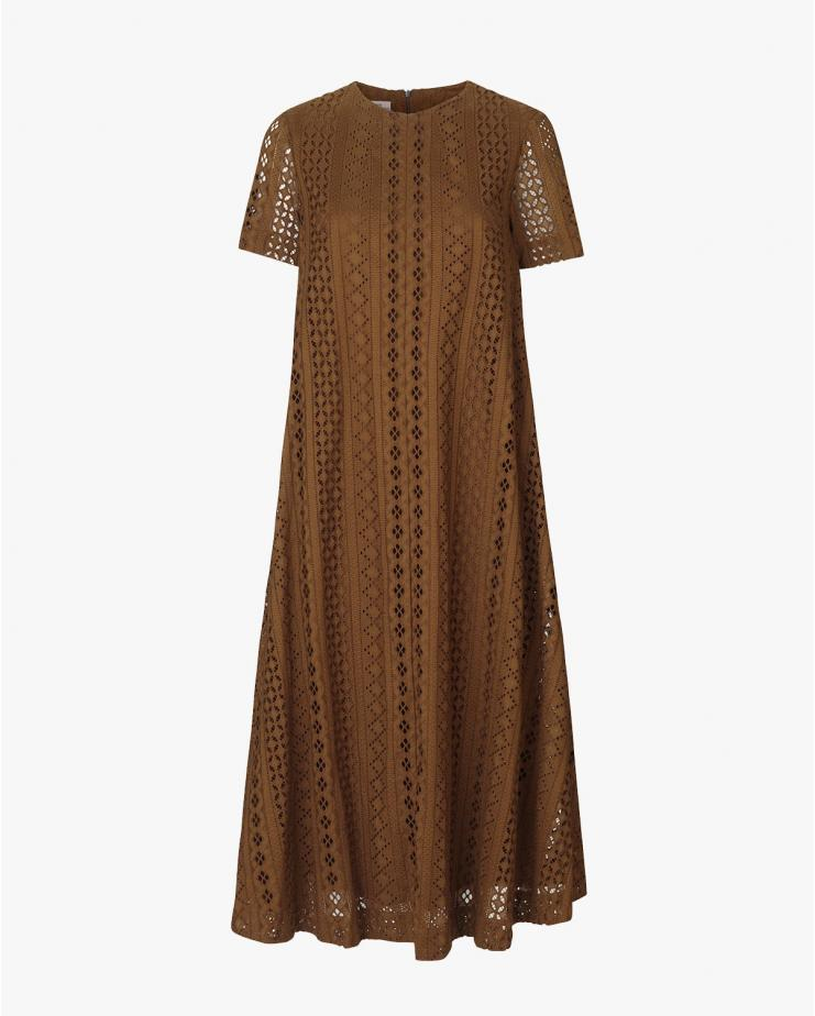 Alaisa Dress in Carafe Brown