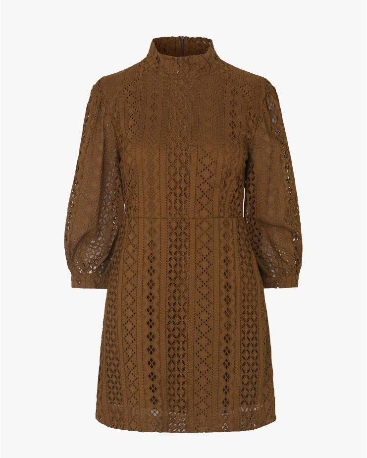 Acira Dress in Carafe Brown