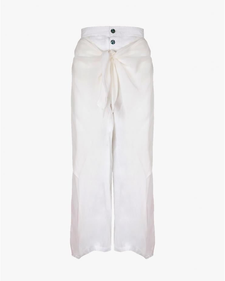 White Wrap Trousers
