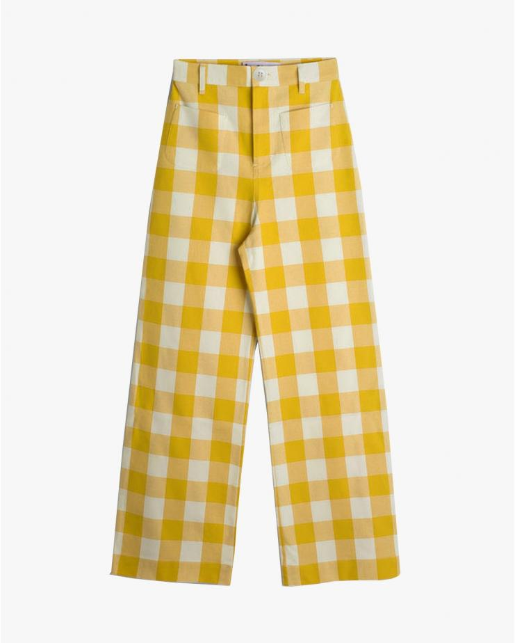Check Pants in Yellow