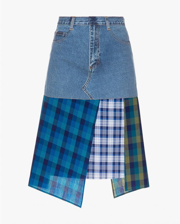 Denim Skirt with a Cotton...