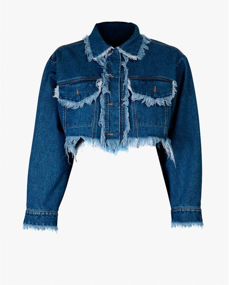 Cropped Fringed Jacket