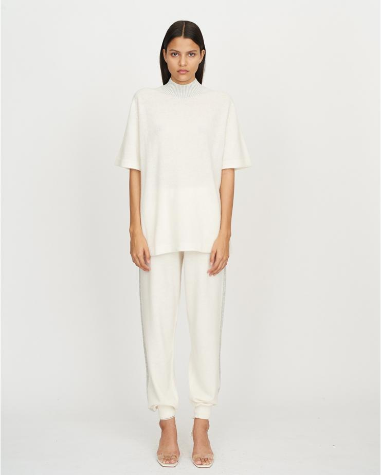 Ankle Cuff Pants in White