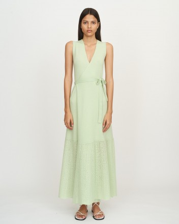 Wrap Dress with Lace Bottom