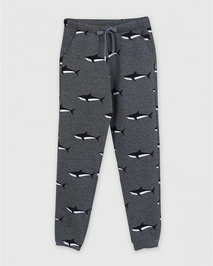 Shark Sweatpants in Dark Gray
