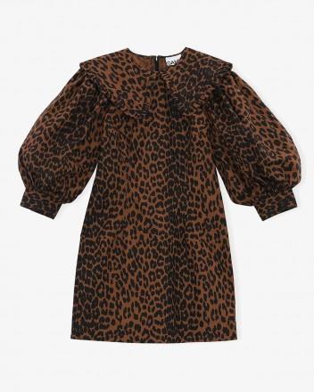 Cotton Poplin Short Dress