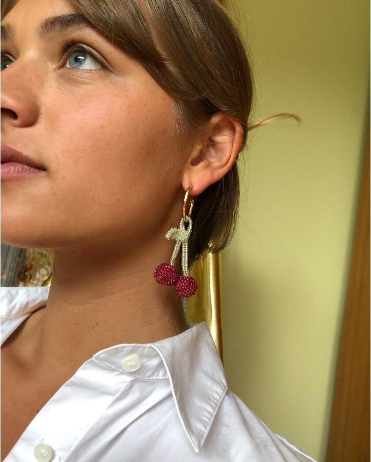 Bright Cherry Earring