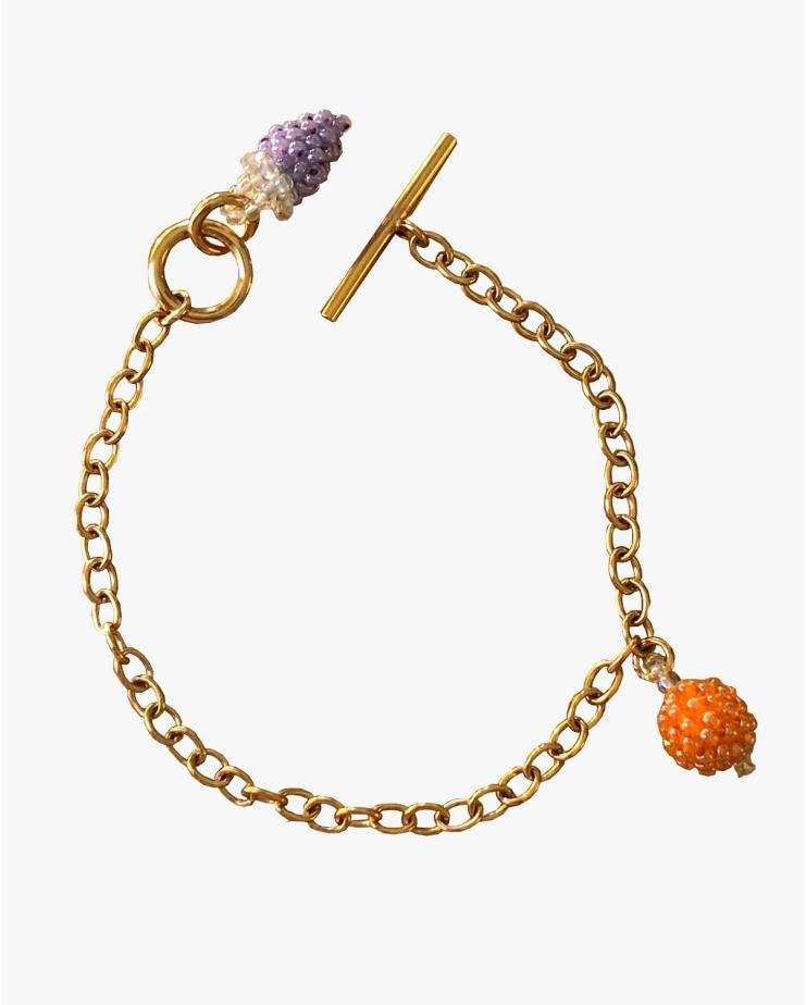 Orange and Grape Bracelet