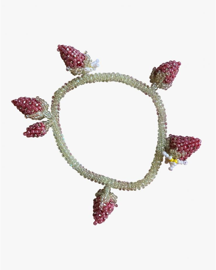 Peyote Strawberry Bracelet
