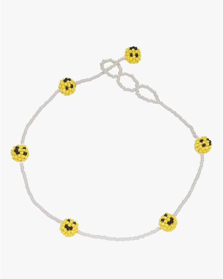 Smiley Beaded Necklace