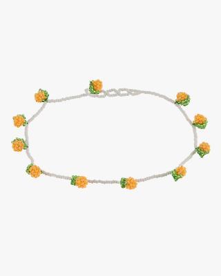 Oranges Beaded Necklace