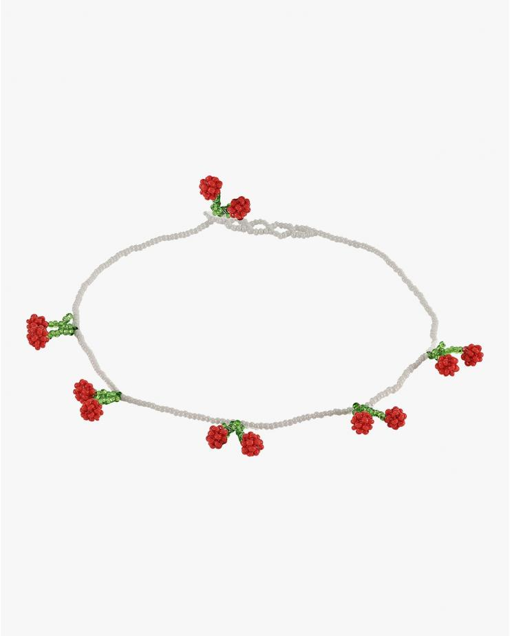 Cherry Beaded Necklace
