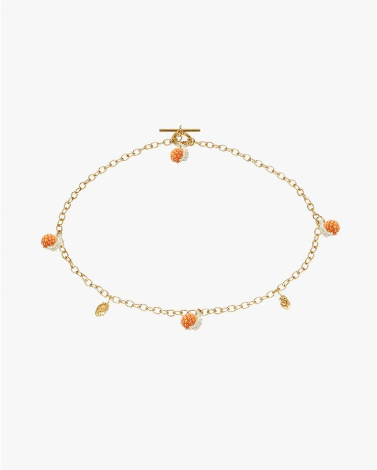 Gold Oranges Blop Necklace