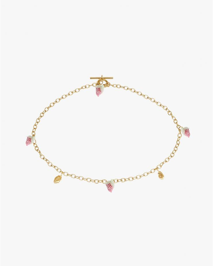 Gold Strawberry Blop Necklace