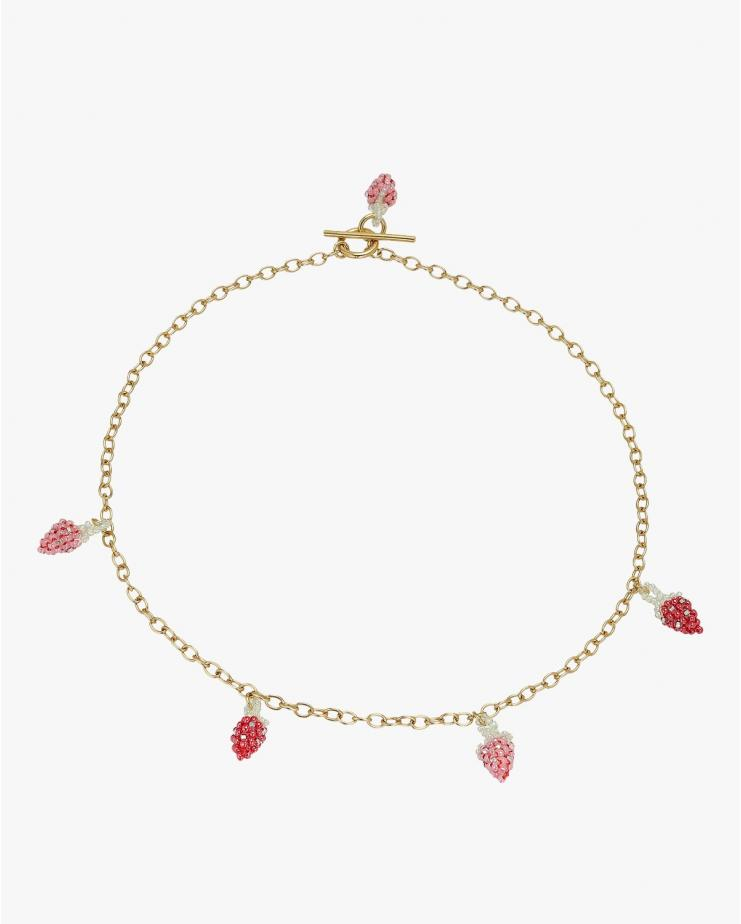 Strawberry Gold Necklace