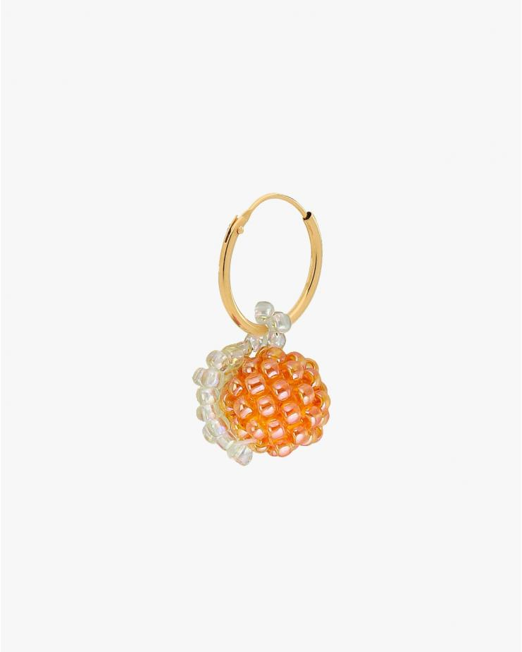 Mini Shiny Orange Earring