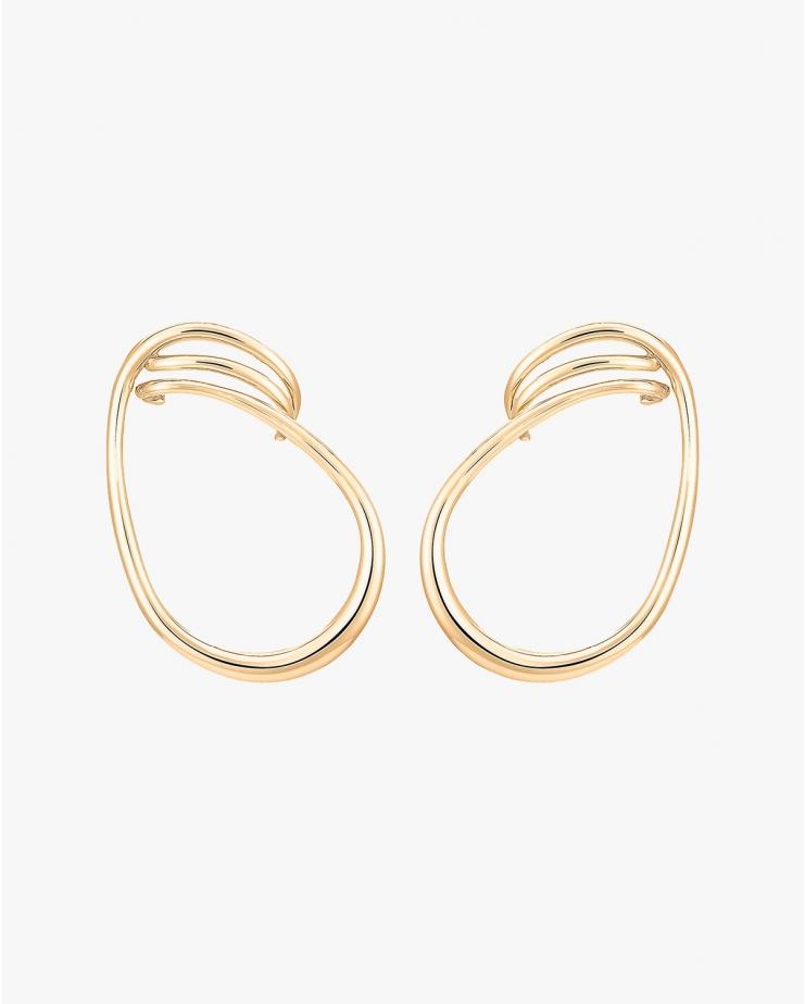 Maxi Round Earrings in Vermeil