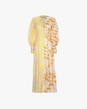 Castana Dress in Hojas Mix...
