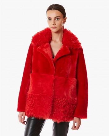 Anouk Coat in Red