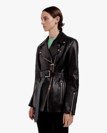 Oversize Biker Jacket in Black