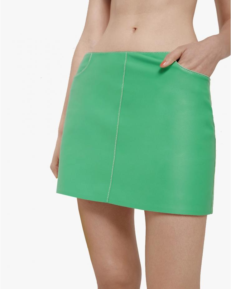 Tate Mini Skirt in Green
