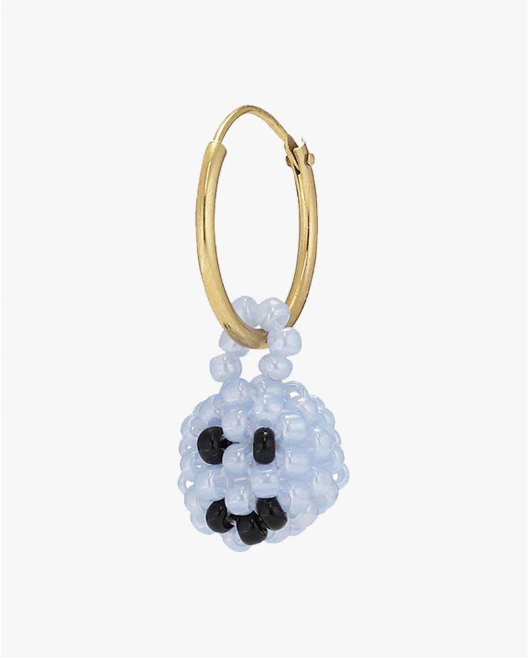 Exclusive Blue Smiley Earring
