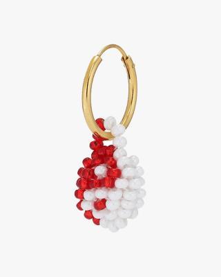 Exclusive Red & White Yin Yang Earring