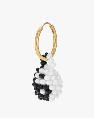 Exclusive Black & White Yin Yang Earring