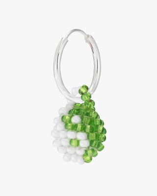 Exclusive Green & White Yin Yang Earring