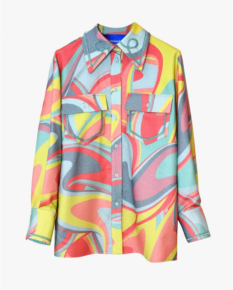 Printed Wool Shirt