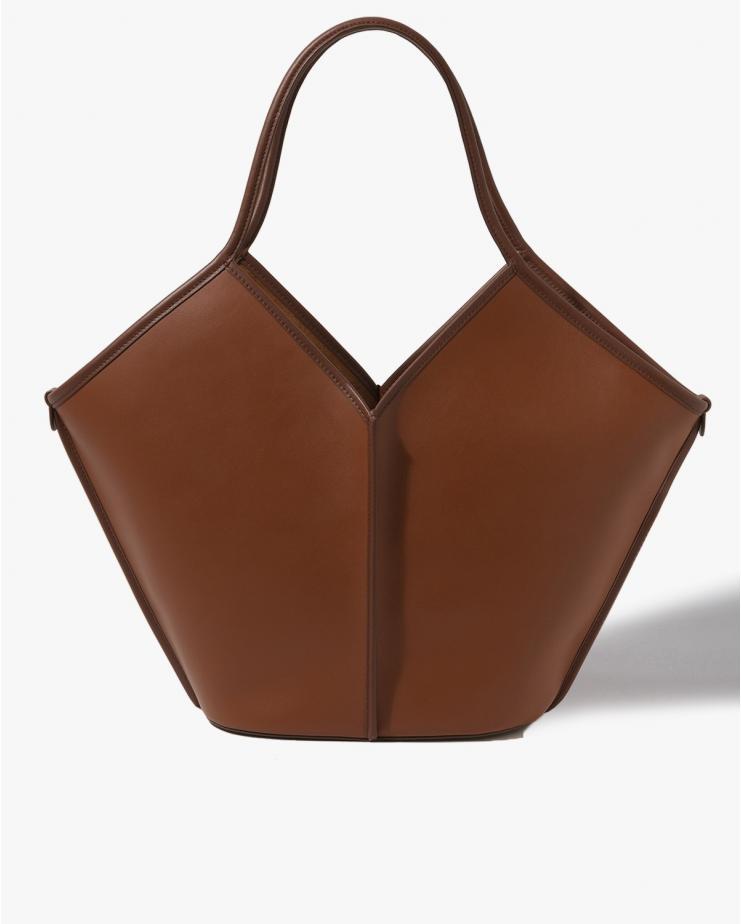 Calella Leather Bag in Tan