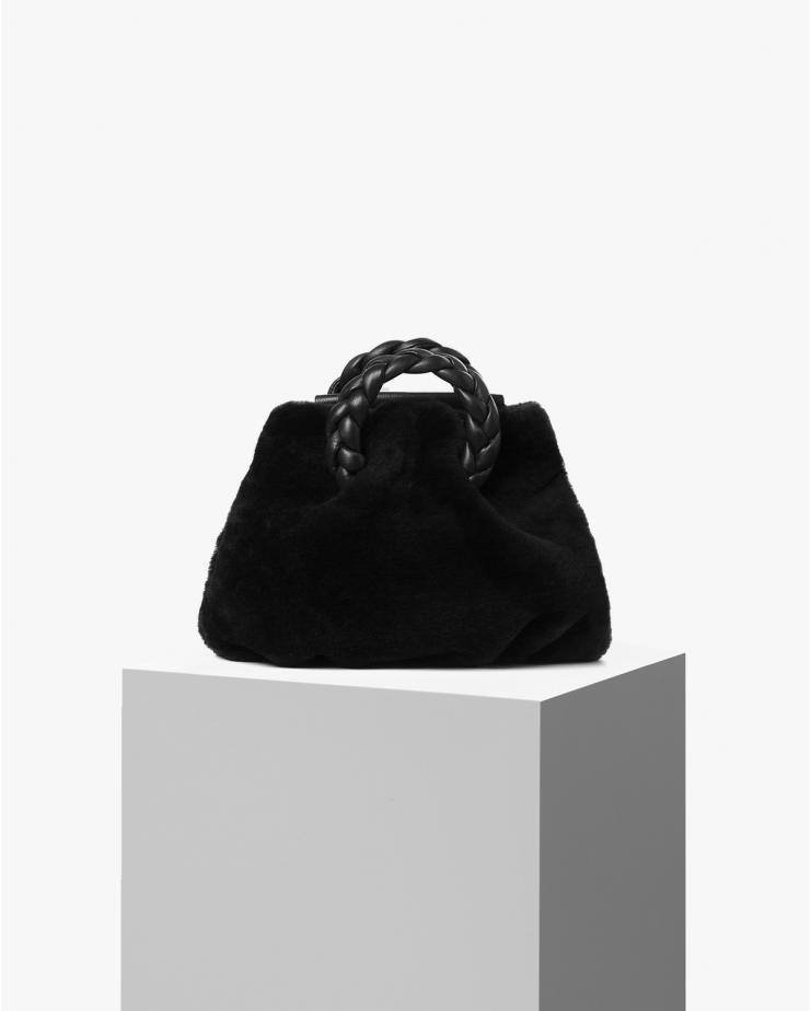Bombon Fur Bag in Black