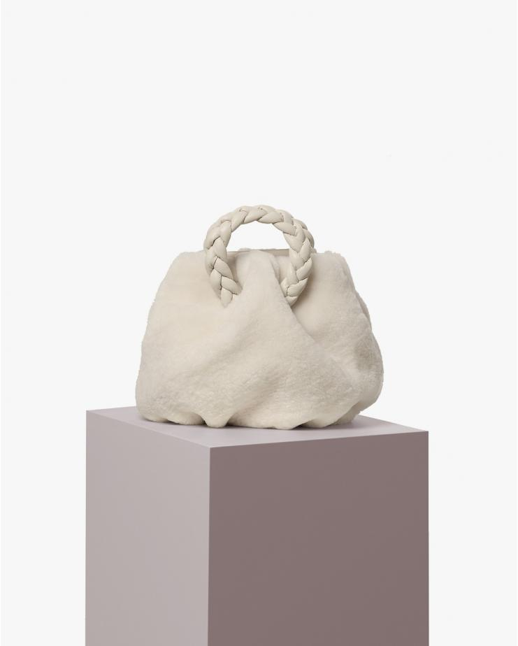 Bombon Fur Bag in Ice