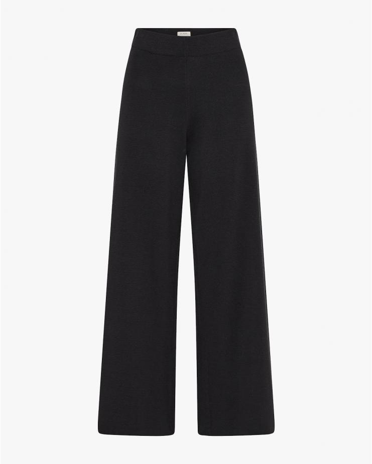 Hemp Knit Lounge Pant in Black