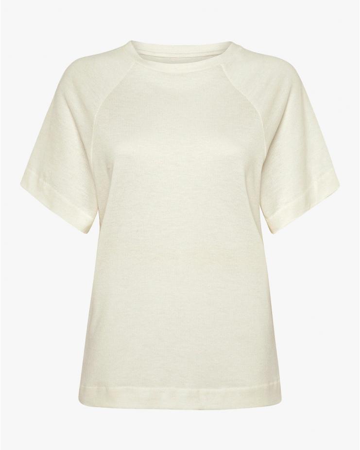 Henri Raglan T Shirt in Ivory